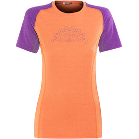 Norrøna Fjørå Equaliser Lightweight - Maillot manches courtes Femme - orange/rose